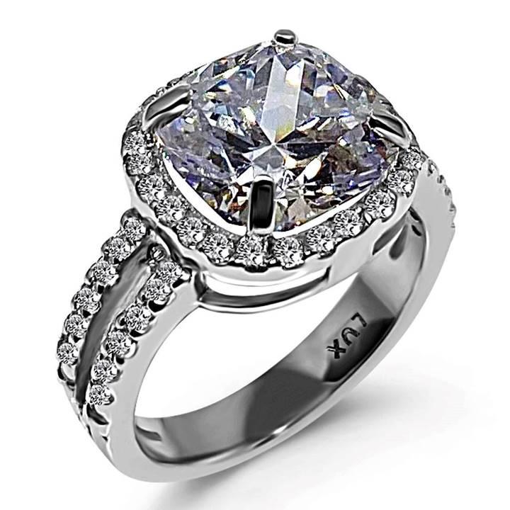 Cushion cut fake engagement ring
