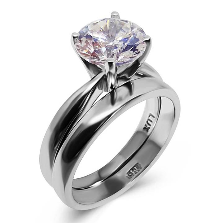 Faux diamond rings for travel LUXURIA