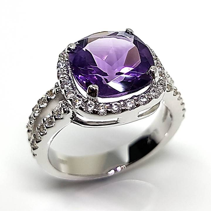 Nice cheap wedding rings Amethyst gemstone