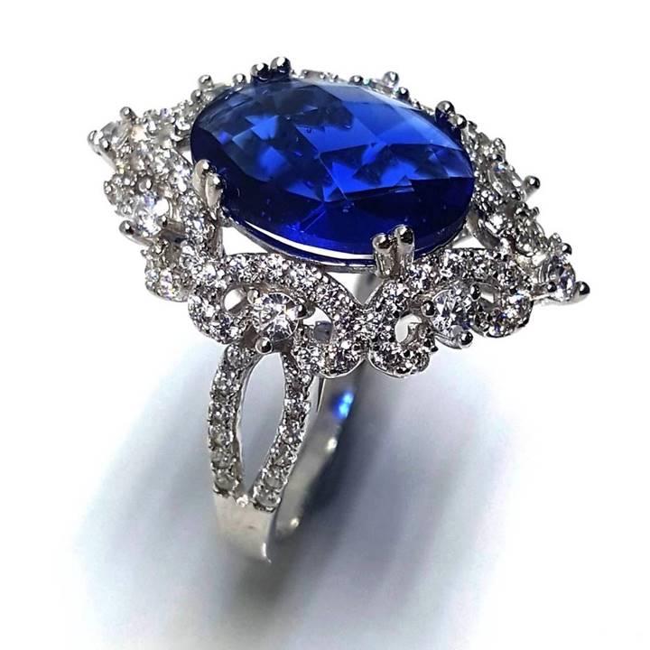 Vintage fake diamond engagement ring