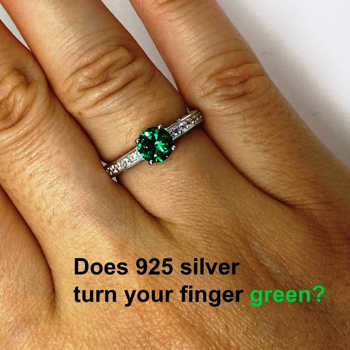 Will sterling silver turn your finger green